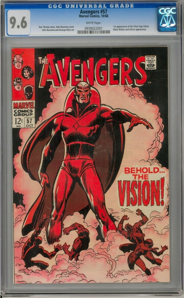 Avengers 57 CGC 96 W 2nd Highest Graded 1st Appearance of the Vision