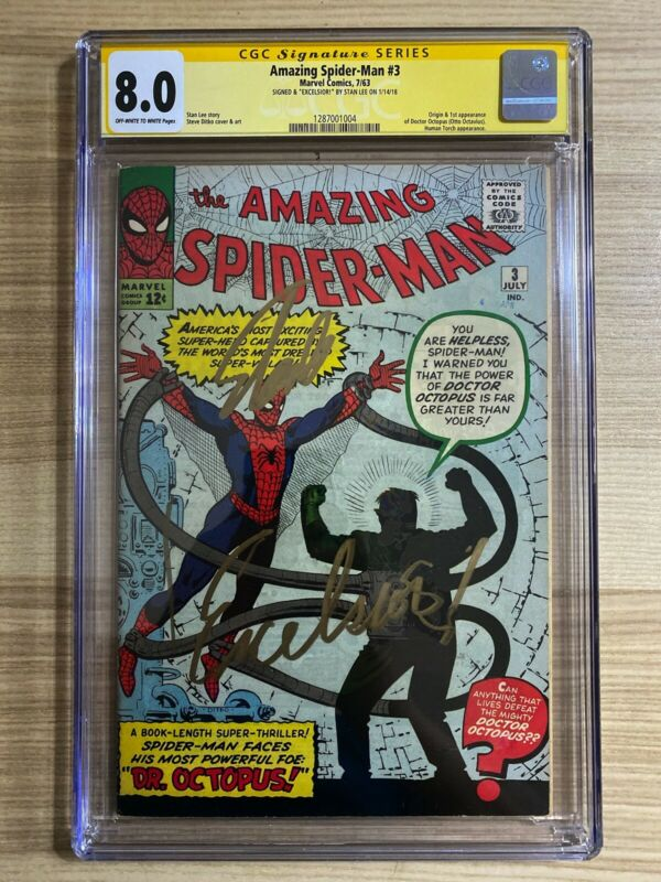 Amazing SpiderMan 3 1st app of Dr Octopus Signed Stan Lee EXCELSIOR CGC 80
