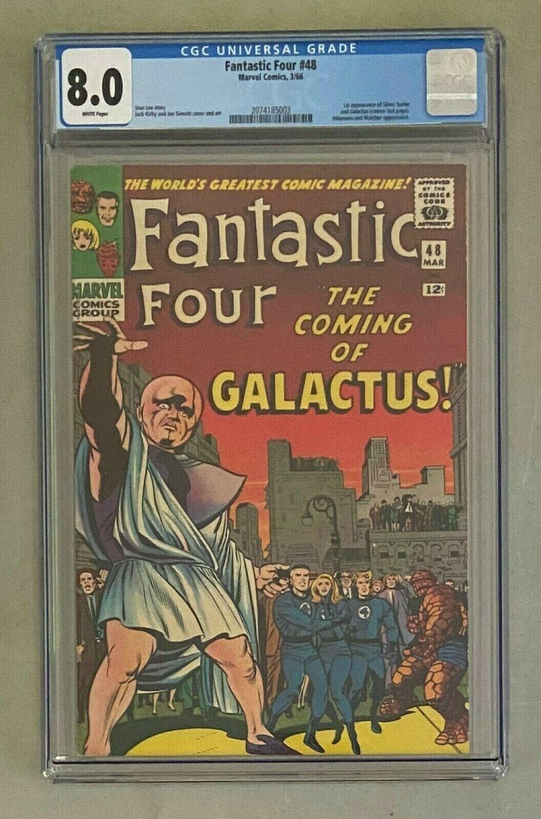 FANTASTIC 4 FOUR 48 Marvel Comics 1966 CGC 80 Silver Surfer 1st Appearance