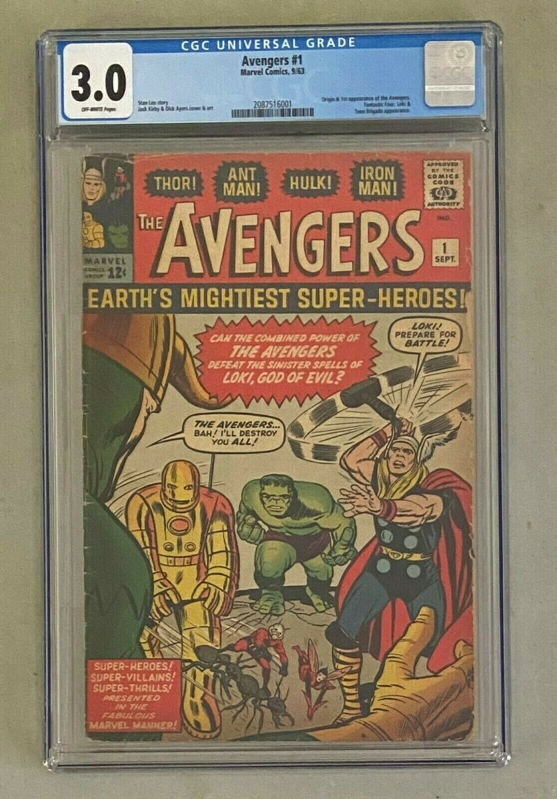 AVENGERS 1 Marvel Comics 1963 CGC 30 Origin  1st Appearance w Fantastic Four