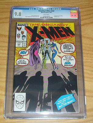 Uncanny XMen 244 CGC 98 first appearance of jubilee  chris claremont 1989
