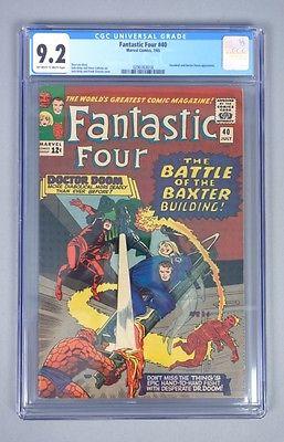 Vintage 1965 Marvel Comics Fantastic Four 40 CGC Graded 92 Silver Age Comic
