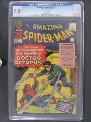 Amazing SpiderMan 11  CGC 70 FNVF  Marvel 1964  2nd App of Dr Octopus