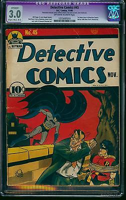 Detective Comics 45 CGC GDVG 30 OffWhite to White   Batman DC