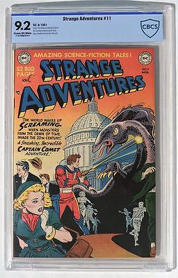 CBCS 92 Strange Adventures 11 1951 DC HIGH GRADE Golden Age CGC NM