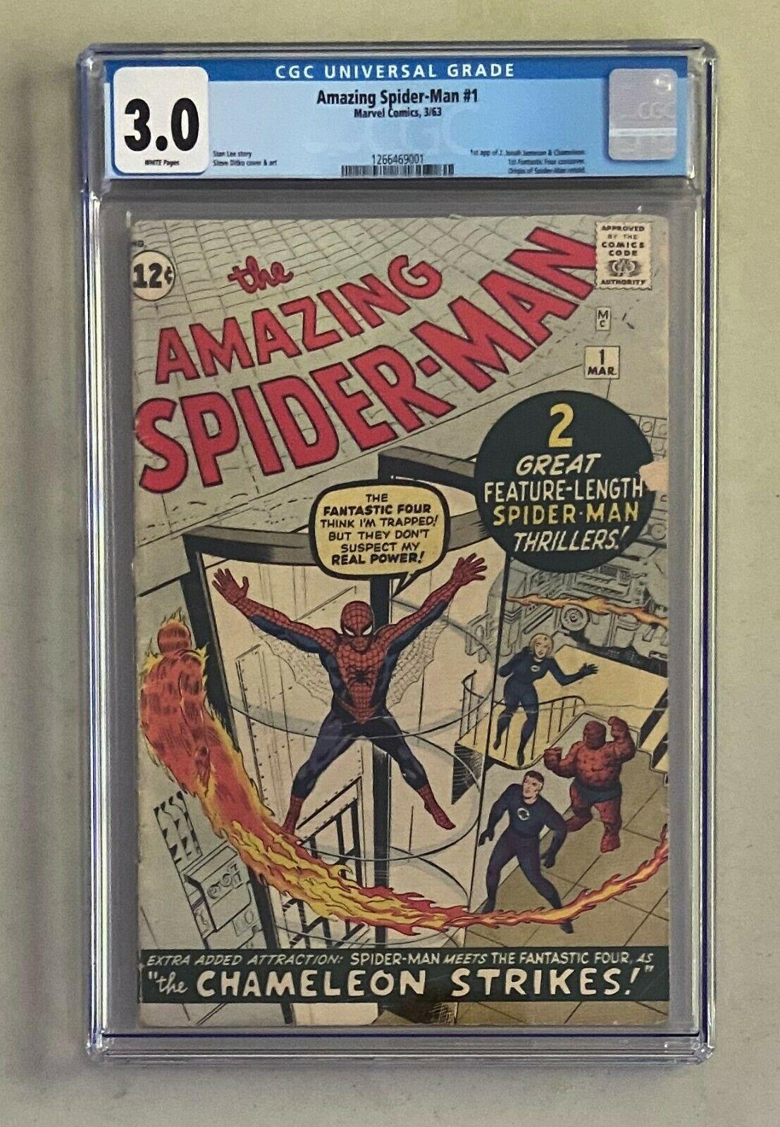 AMAZING SPIDERMAN 1 Marvel Comics 1963 CGC 30 Jonah Jameson 1st Appearance
