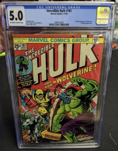 The Incredible Hulk 181 CGC 50 1st Full Appearance of Wolverine Fantastic