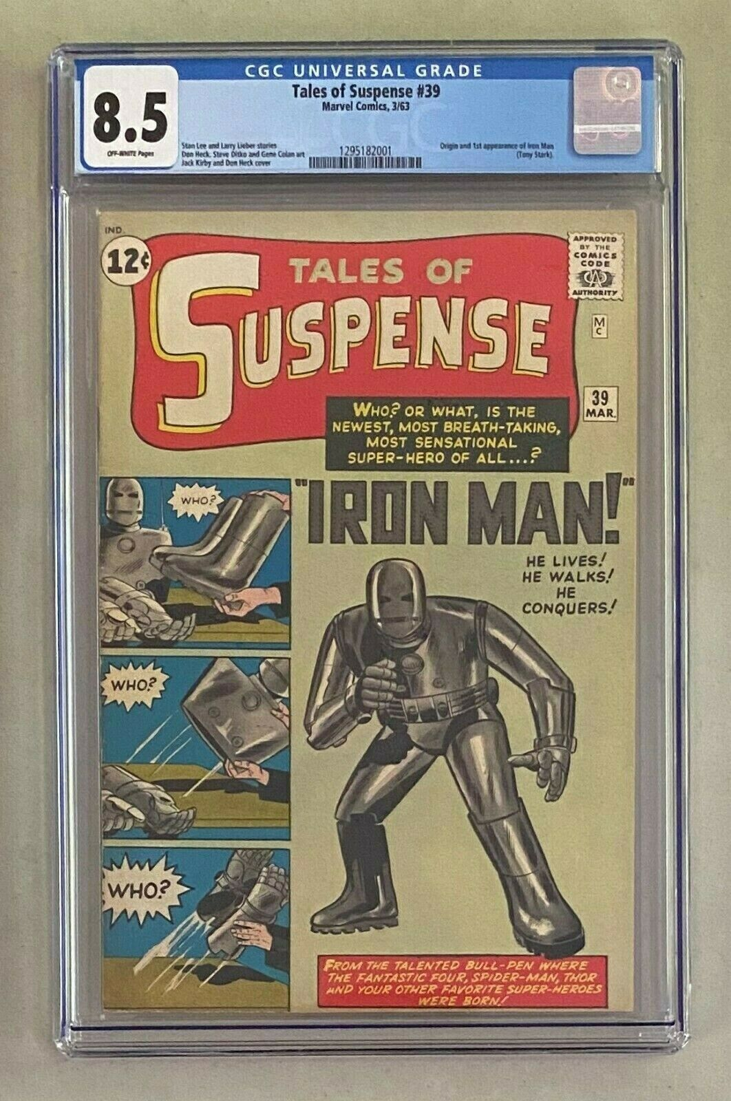 TALES OF SUSPENSE 39 Marvel Comics 1963 CGC 85 Origin  1st Appearance