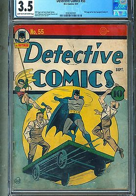 CGC DETECTIVE COMICS  55 GOLDEN AGE 1941 35 VG BATMAN