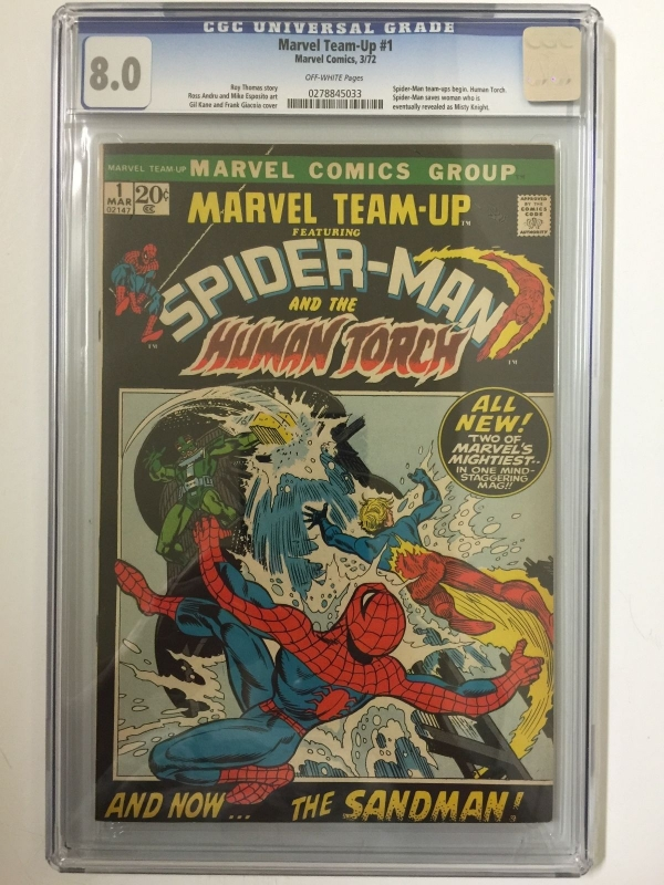 CGC 80 MARVEL TEAMUP 1  SPIDERMAN  HUMAN TORCH