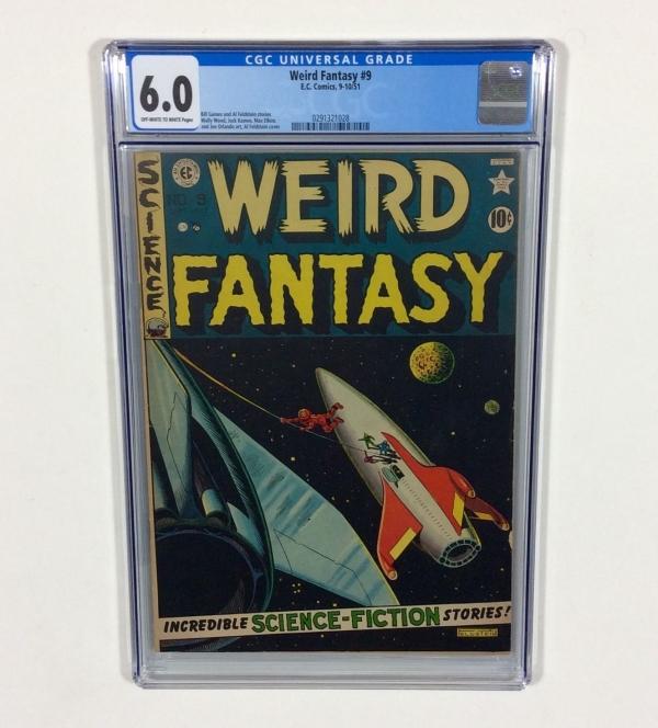 WEIRD FANTASY 9 CGC 60 Al Feldstein cover Wally Wood art 1951 EC Comics