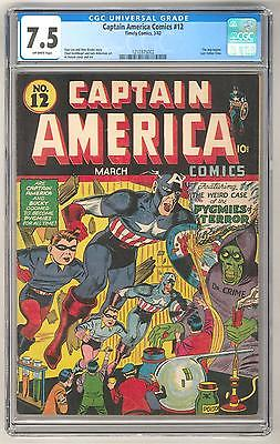 Captain America Comics 12 CGC 75 OW The Imp Begins Last Father Time