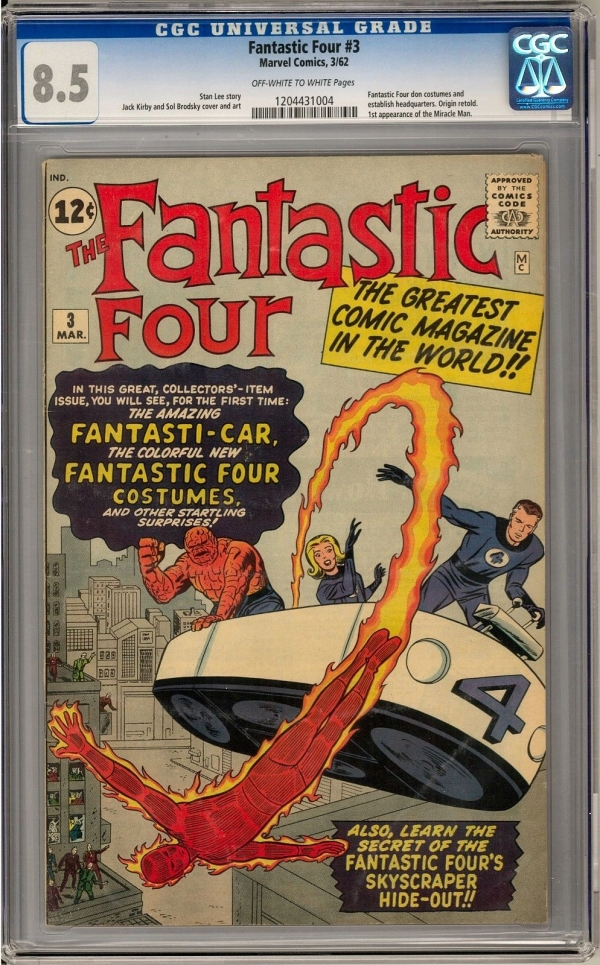 Fantastic Four 3 CGC 85 OWW 1st Baxter Building 1st Costumes