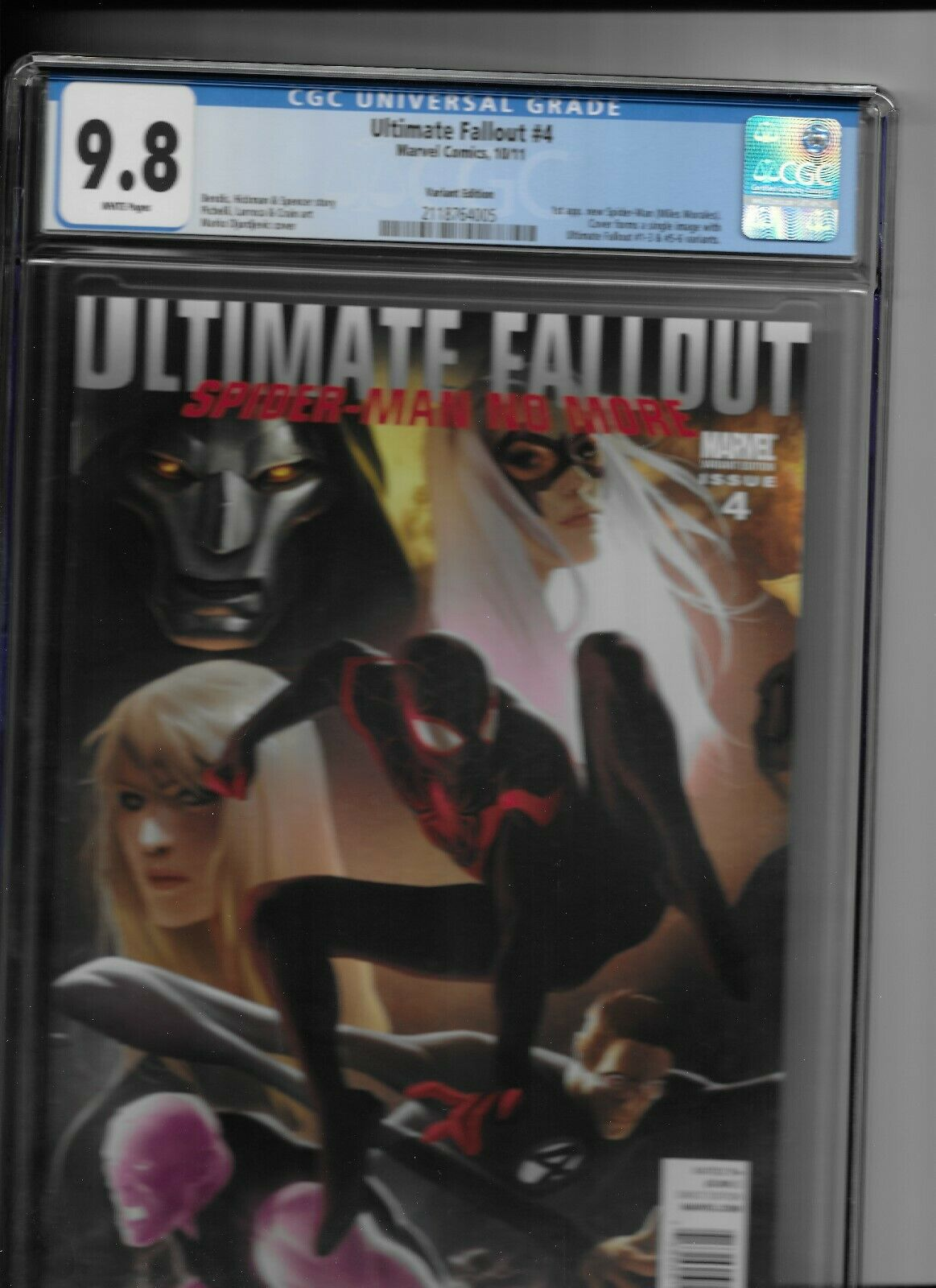 Ultimate fallout 4 Variant CGC 98 First Miles Morales