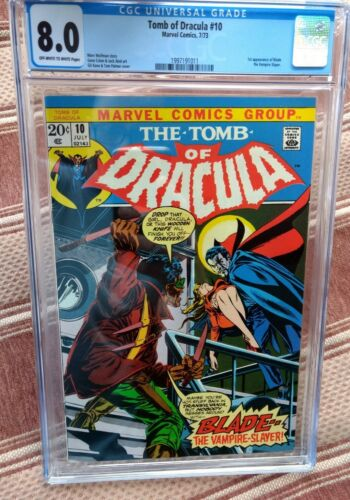 TOMB OF DRACULA 10 CGC 80 1st Appearance of Blade