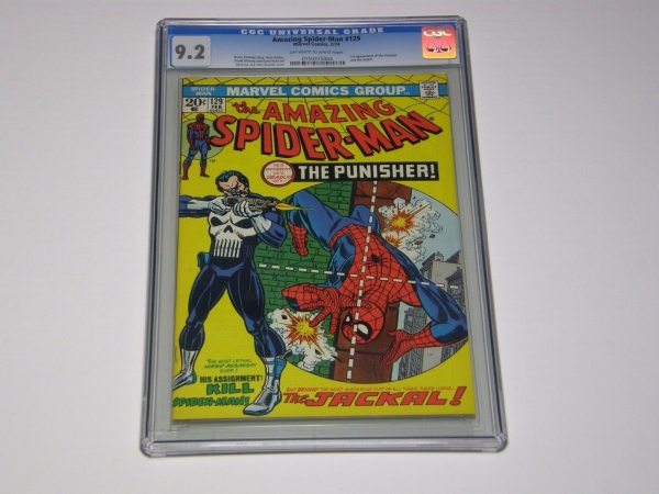 The Amazing SpiderMan 129  CGC 92 Key 1st appearance Punisher  Jackal 1974