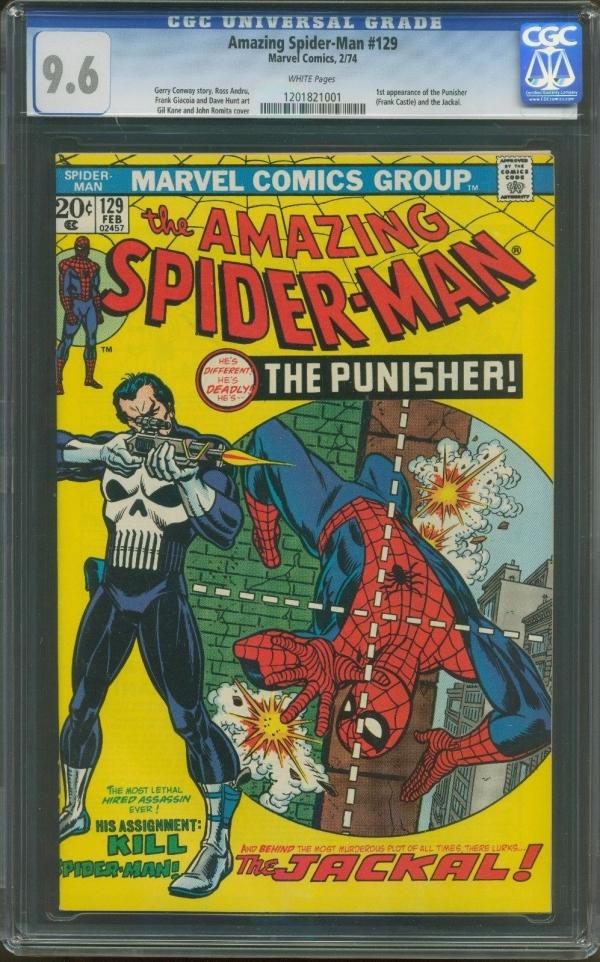 AMAZING SPIDERMAN 129 CGC 96 1st appearance PUNISHERMARVEL KEY