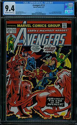 AVENGERS 112 CGC 94 WHITE PAGES MARVEL 1ST MANTIS GUARDIANS MOVIE