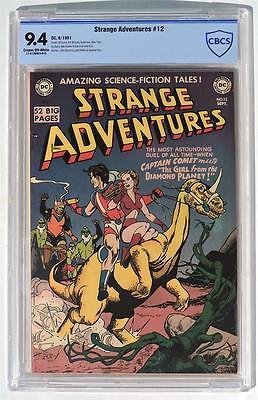 CBCS 94 Strange Adventures 12 1951 DC HIGH GRADE Golden Age CGC NM