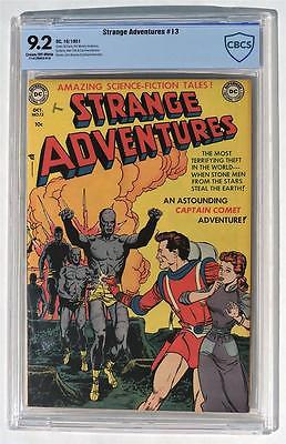 CBCS 92 Strange Adventures 13 1951 DC HIGH GRADE Golden Age CGC NM