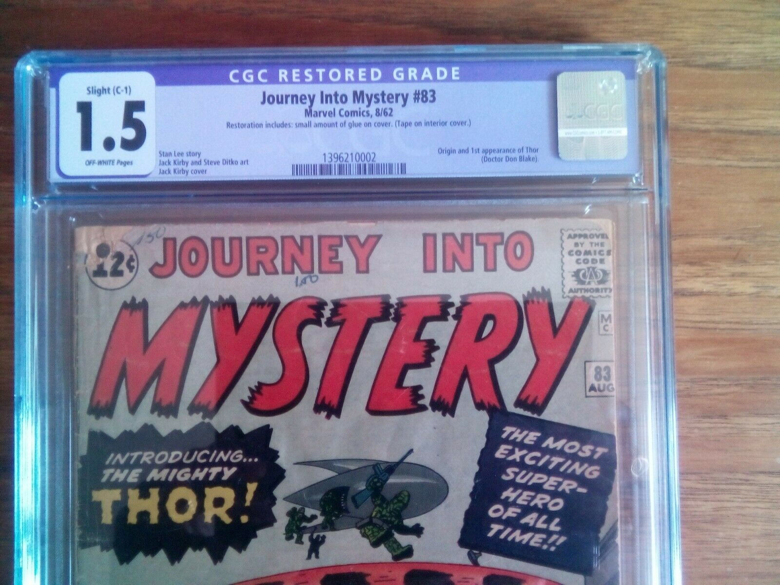 Journey Into Mystery 83 CGC 15 restored OWW Origin  1st Appearance of thor