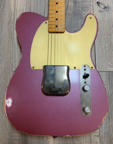 CGC Custom Shop Fender Relic 59 Esquire Aged Burgundy Mist  Tweed Case