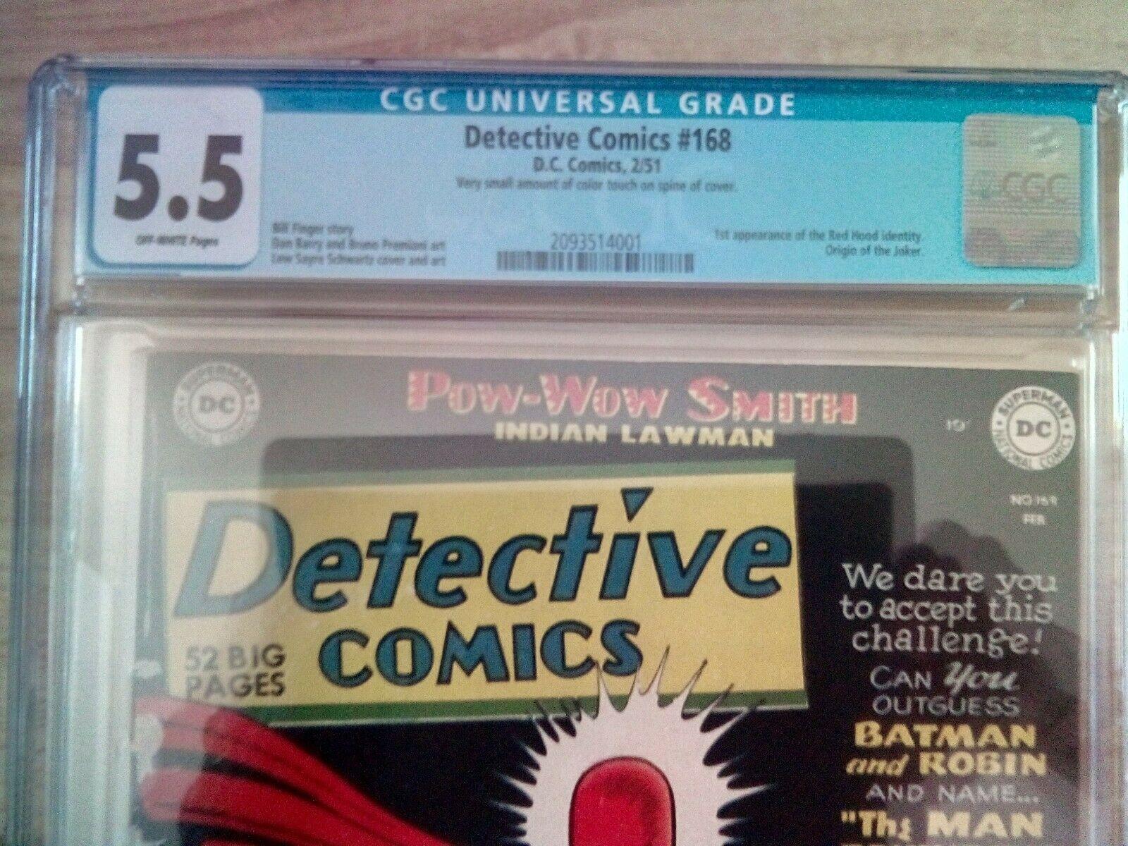 Detective Comics 168 Joker Movie Man Behind The Red Hood Origin CGC 55 blue