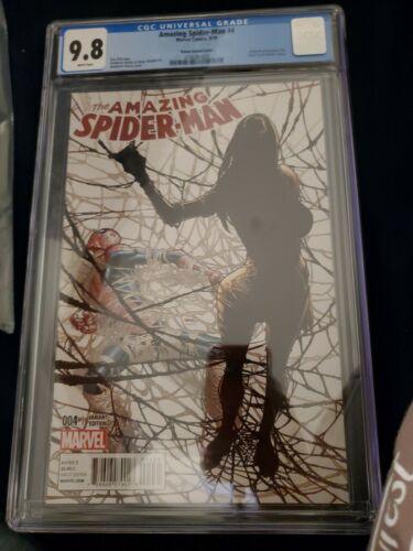 Amazing SpiderMan 4  CGC 98  Humberto Ramos Variant  1st Appearance of Silk