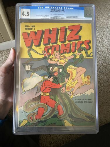 Whiz Comics 4 Cgc 45 1940 Shazam Captain Marvel
