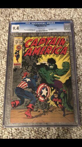 Captain America 110 CGC 94 Hulk 1969