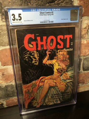 Ghost Comics 2 CGC 35  Fiction House 1952 Classic Lingerie Cover  LOW PRICE
