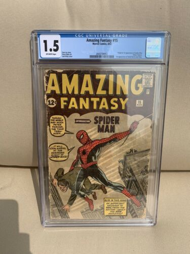 Amazing Fantasy 15 CGC GRADED 15 Off White Pages CHEAPEST 15 by 2000