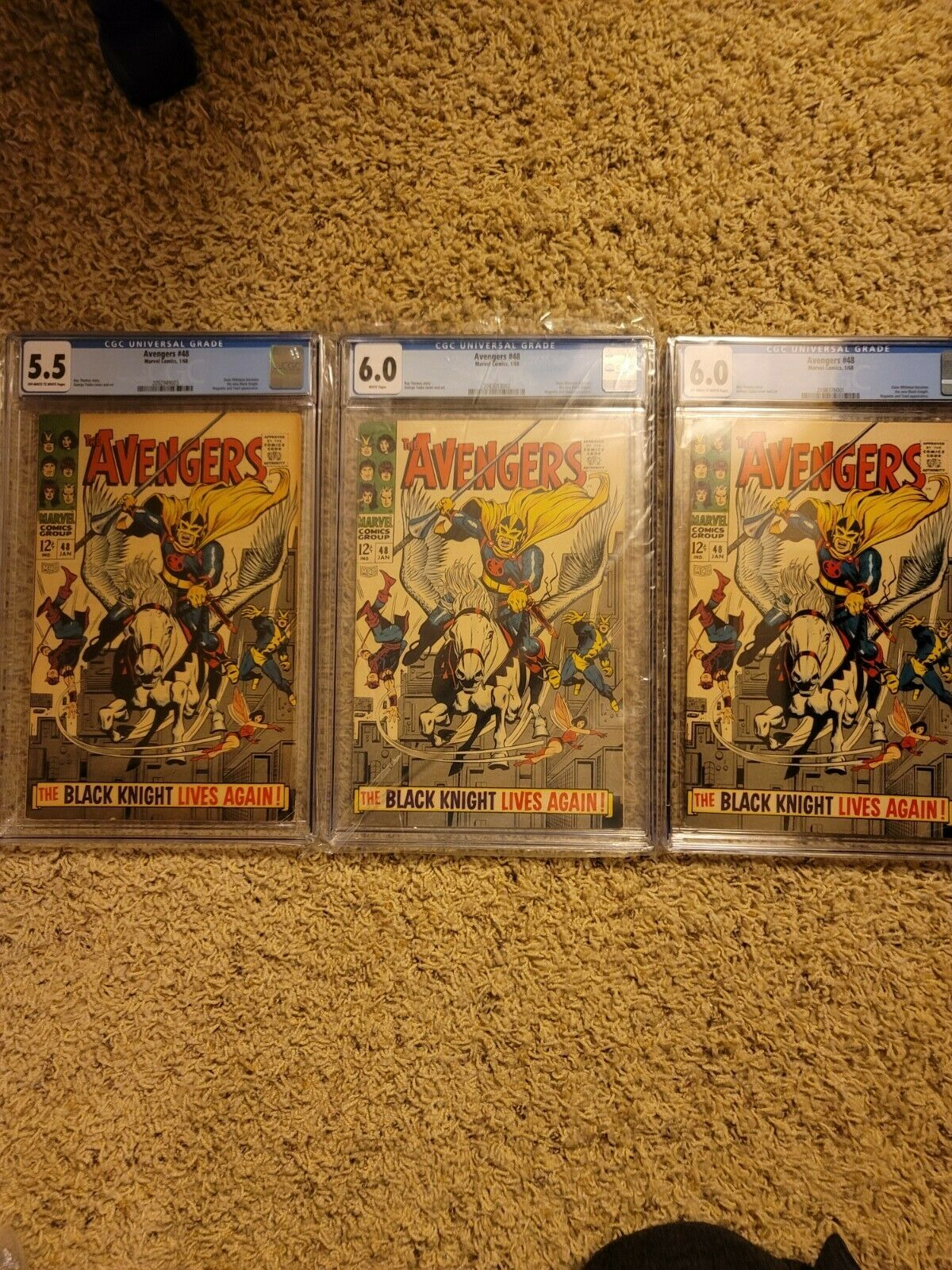Avengers 48 CGC lot of 3 books 60 60 and 55
