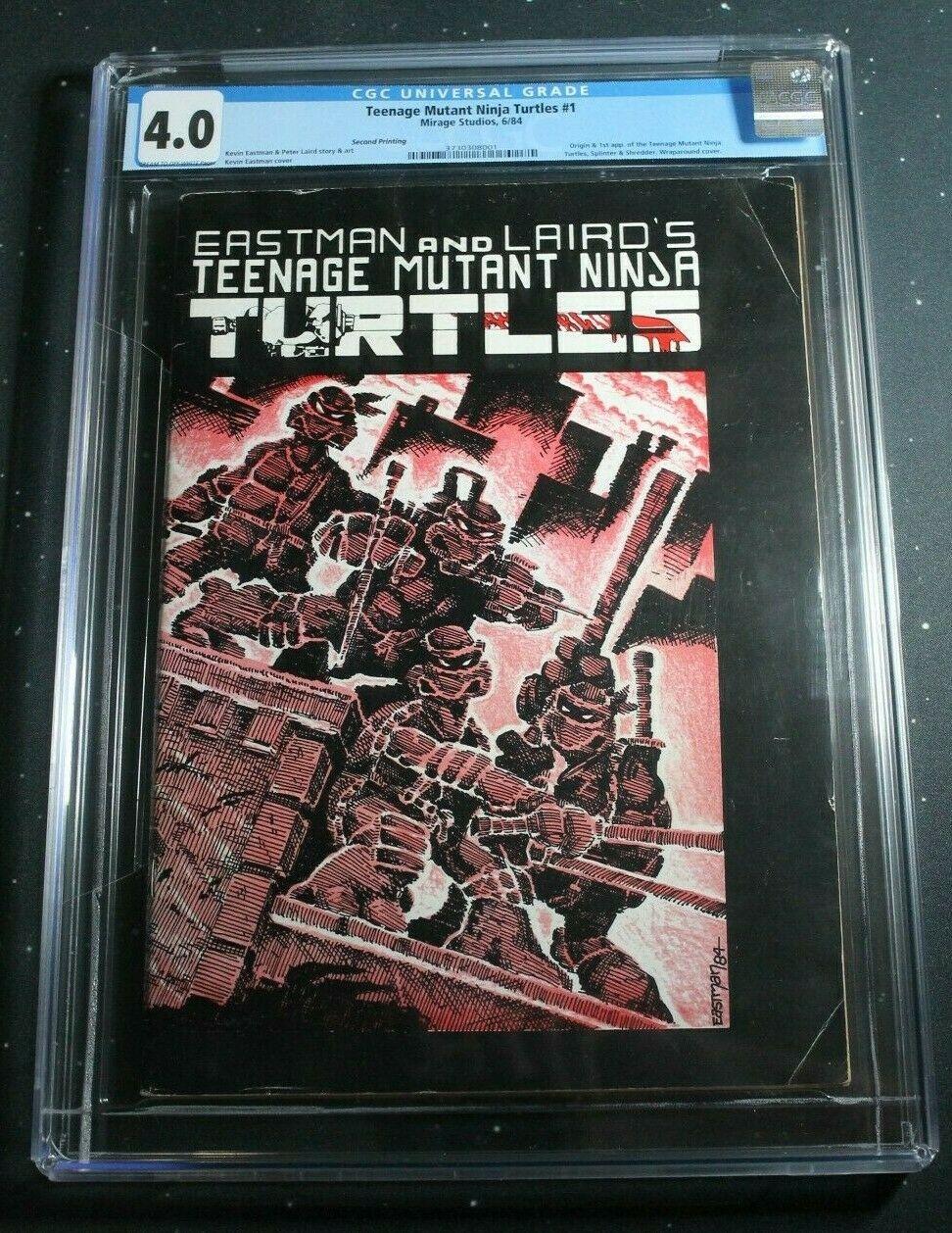 Teenage Mutant Ninja Turtles 1 1984 Mirage CGC 40 TMNT 2nd Print