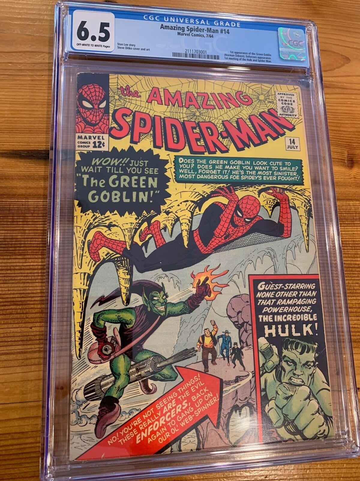 The Amazing SpiderMan 14 CGC Universal Grade 65 1st AppGreen Goblin