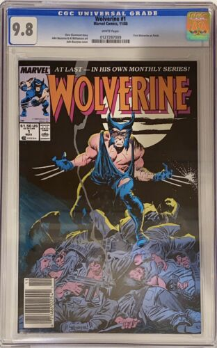 Wolverine 1 CGC 98 NEWSSTAND 1988 1st Wolverine Ongoing Series 1st Patch