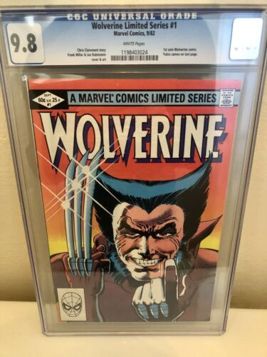 Wolverine Limited Series 1 CGC 98 Marvel 1982 Mint Rare NNMT