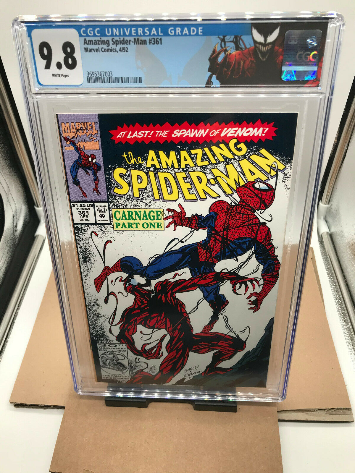 CGC 98 White Pages Amazing SpiderMan 361  1992  First Carnage