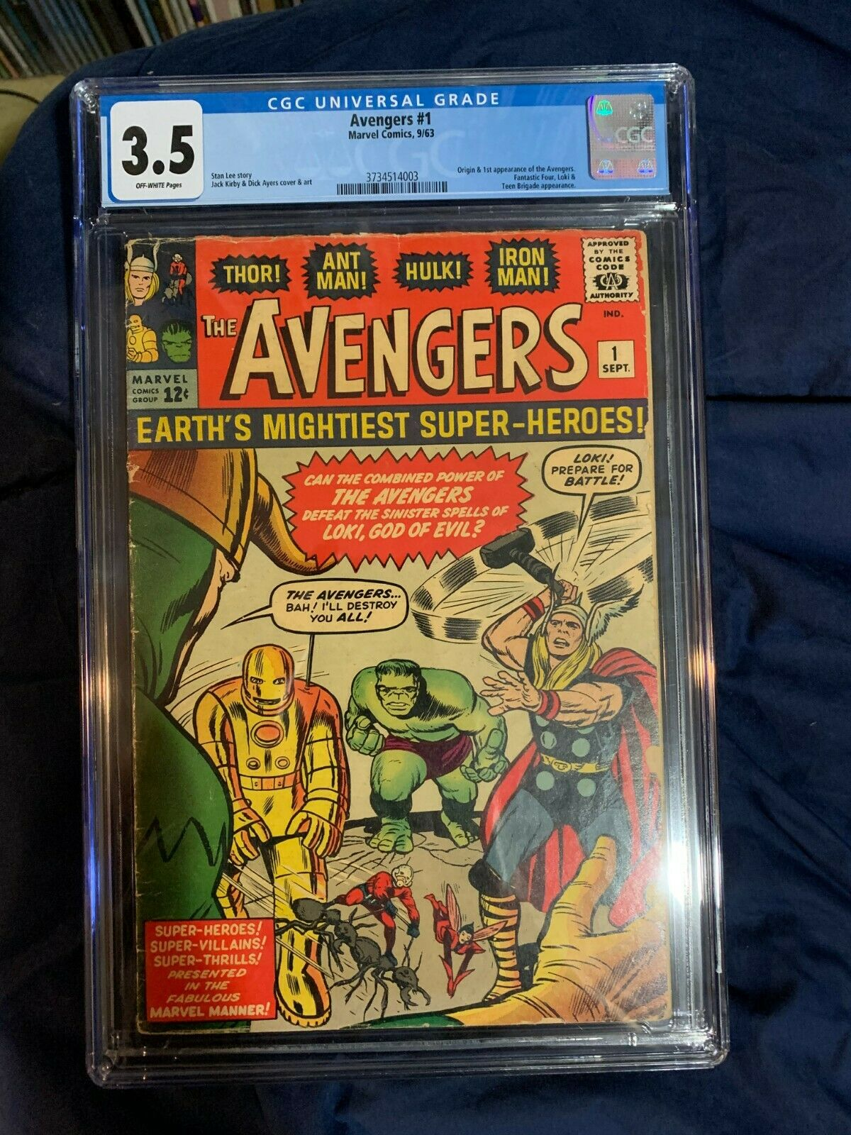 Avengers 1 cgc 35 1st Team appearance and origin of The Avengers