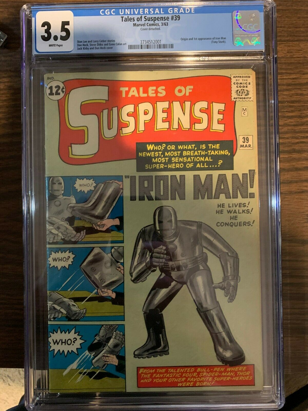 Tales of Suspense 39 CGC 35 1st Appearance of Iron Man
