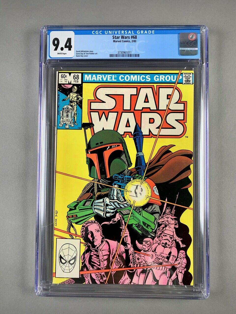 Star Wars 68 CGC 94 Boba Fett Mandalorian Marvel Disney Vintage This Is The Way