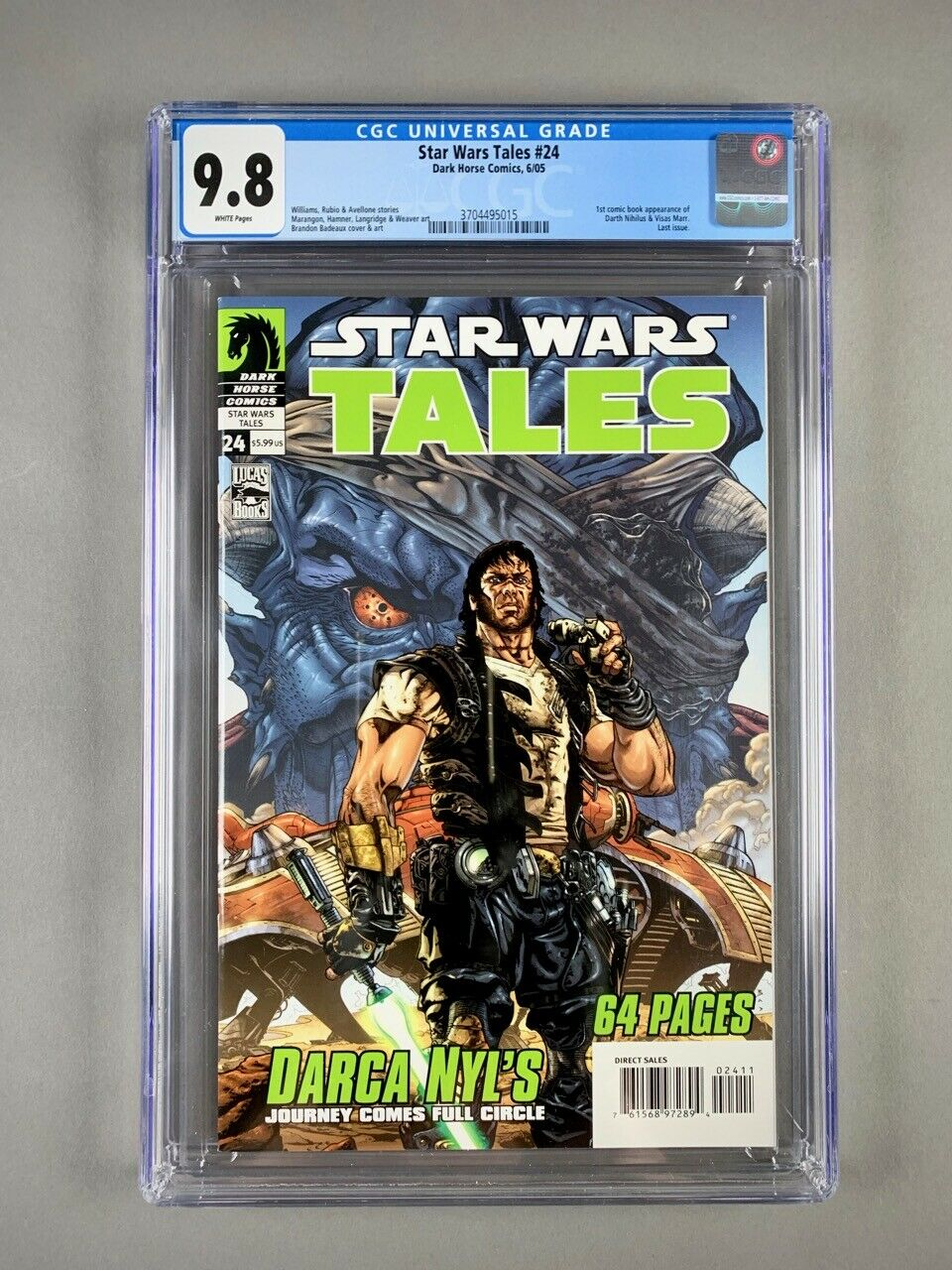 Star Wars Tales 24 CGC 98 1st Appearance of Darth Nihilus  Traya