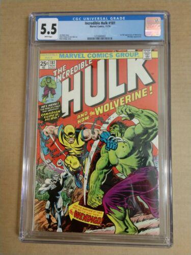 Hulk 181 CGC 55 White Pages