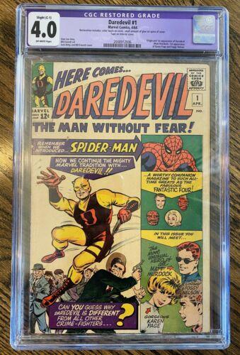 Daredevil 1 CGC 40 Restored 1964 Origin Story Marvel Key Issue Musthave