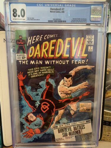 Daredevil 7 CGC 80 Apr 1965 Marvel 465