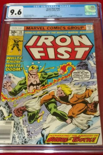 CGC 96 IRON FIST 14 1ST APPEARANCE SABRETOOTH 1977 BIG KEY ISSUE
