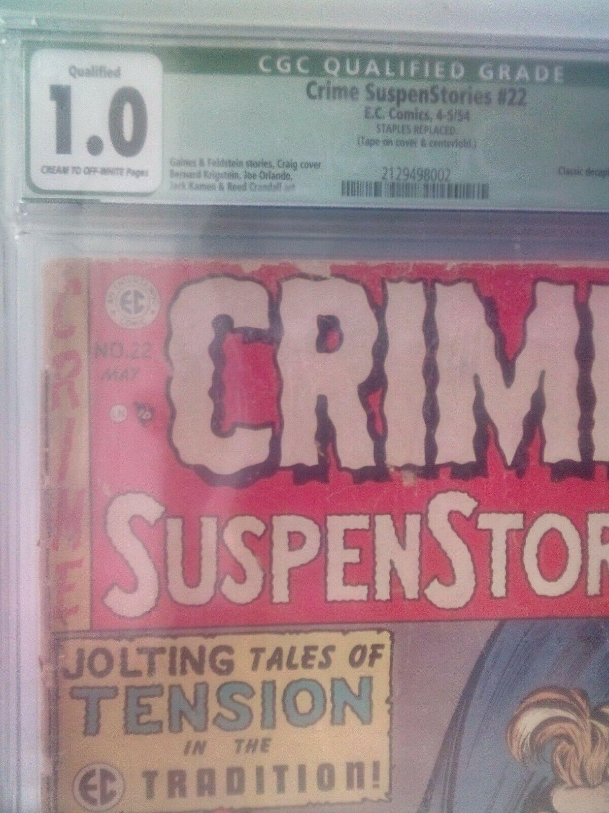Crime Suspenstories 22  CGC 10 EC 1954  Classic Decapitation cover