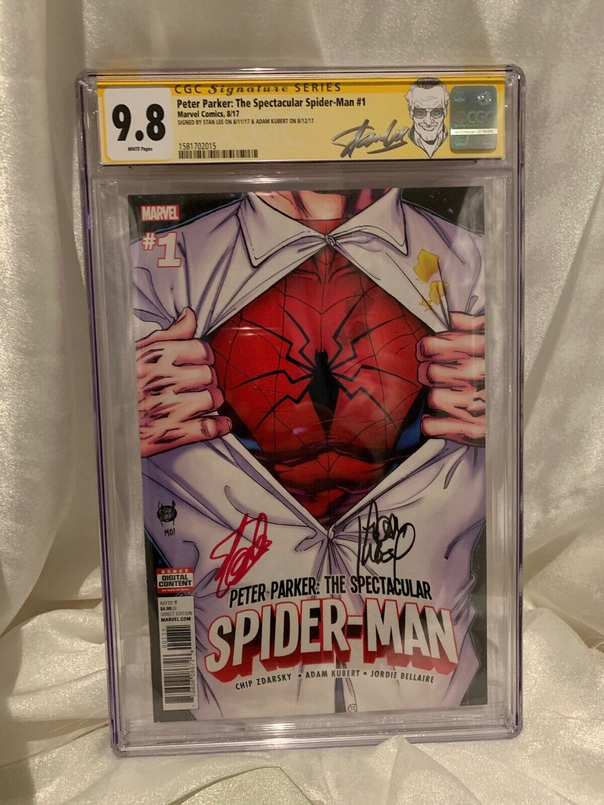 CGC 98 SIGNED STAN LEE SPECTACULAR SPIDERMAN 1