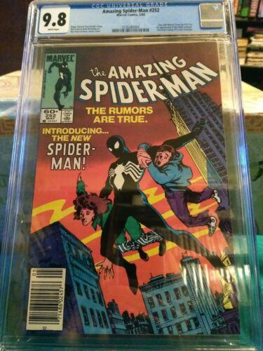 Amazing spiderman 252 cgc 98 newsstand