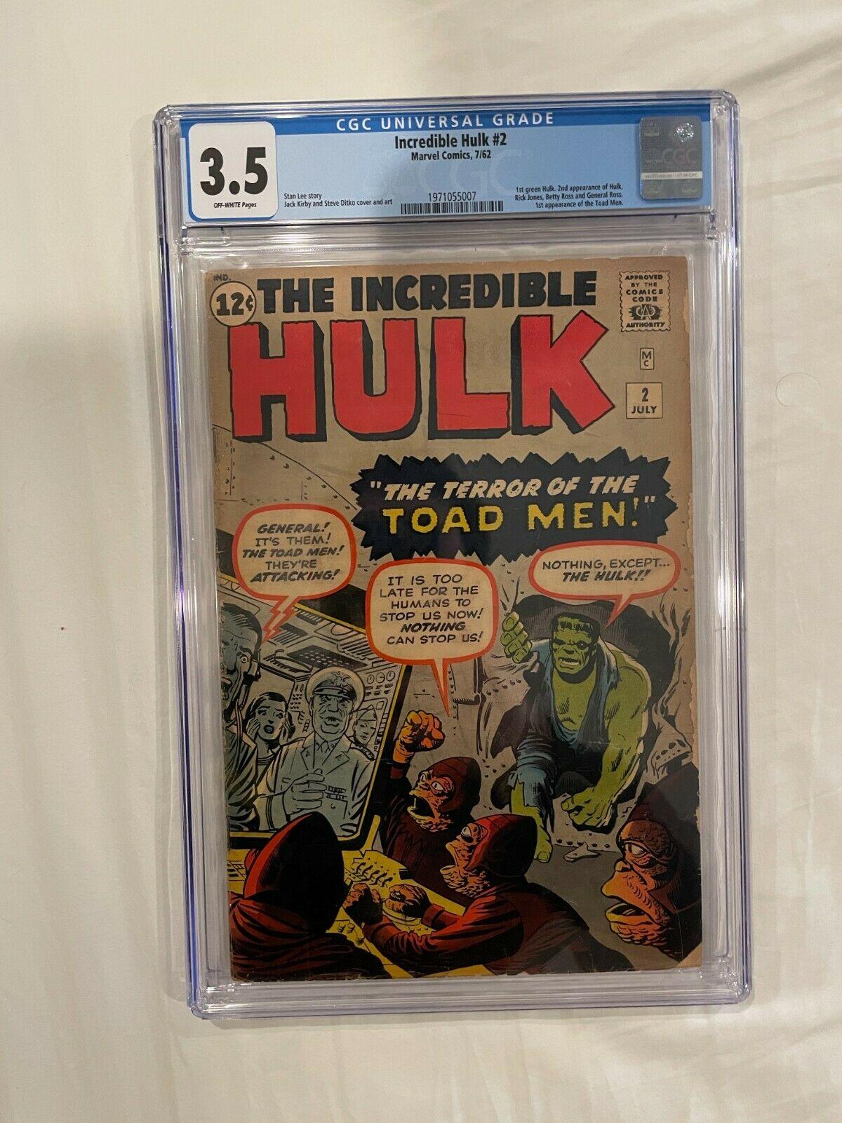Incredible Hulk 2 CGC 35 1962